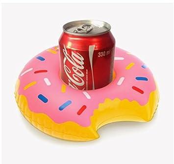 Mossun - 2 posavasos hinchables de Donuts para bebidas, soporte para bebidas, piscina, piscina, playa, fiesta, juguete de baño para niños: Amazon.es: ...