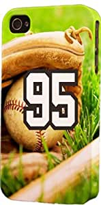 Baseball Sports Fan Player Number 95 Snap On Flexible Decorative iphone 4s Case