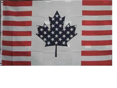USA Canada Friendship Traditional (America Canada Flag)