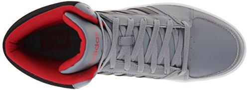Adidas Neo Mens Hoops Vs Mid Fashion Sneaker Grigio / Nero / Rosso Potere