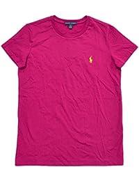 Women Crew Neck Ribbed Pony Logo T-shirt