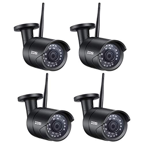 ZOSI 4 Pack 1080P Wireless Camera Home Security, 2.4G Only IP Camera Indoor with 10m Night Vision for Home Office Baby Elder Pet Nanny Monitor, Two-Way Audio, Motion Alert, Mobile Access