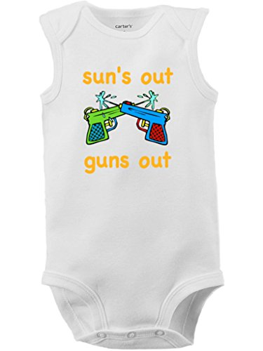 Funny Suns Guns Baby Bodysuit