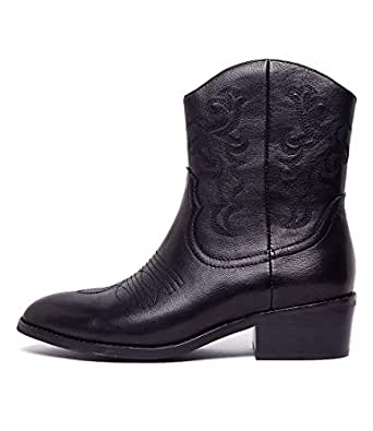 Mollini ZOFIE Black Black Embroidery Womens Shoes Ankle Boots Heels