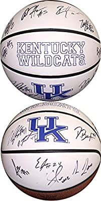 2014-15 Kentucky Wildcats Team signed Logo Basketball w/ 13 sigs- Karl-Anthony Towns- JSA/BAS Guaranteed to Pass - PSA/DNA Certified