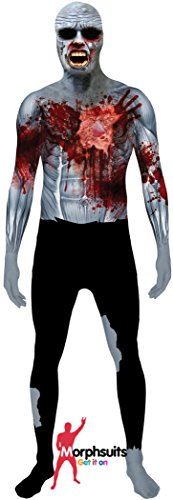 [Digital Dudz Beating Heart Zombie Morphsuit] (Zombie Costume For Female)