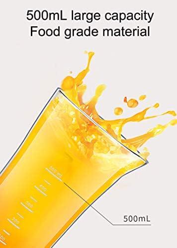 YLEI Mixeur Plongeant 150W, Blender à Main avec Lames Tranchantes en Acier Inoxydable, Verre Doseur, Fouet et Chooper, Faible Bruit, Blanc