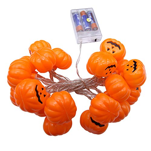 Halloween Party Ghost Festival Pumpkin LED Battery Lantern String Decoration -