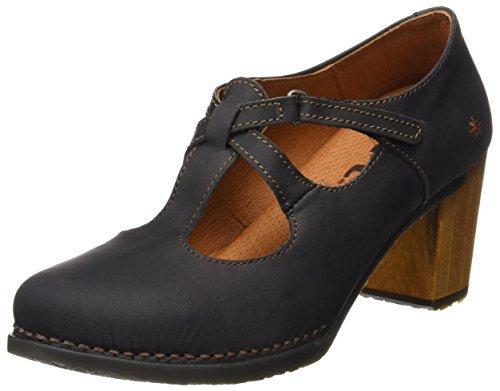 ART 0410 Olio Salzburg, Zapatos de Tacón con Punta Cerrada para Mujer Negro (Black)