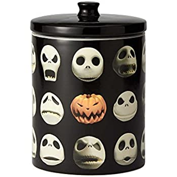 "2d1b326241750 Enesco 6001019 Disney Ceramics ""Nightmare Before Christmas"" Jack Cookie Jar  9.25 inch Black"