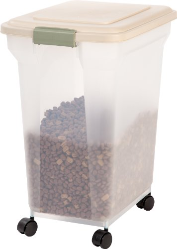 IRIS Premium Airtight Pet Food Storage Container, 42-Pounds,  Almond
