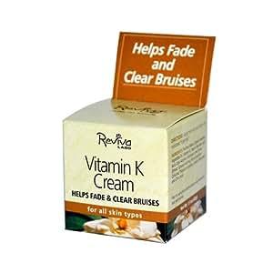 Reviva Labs Vitamin K Cream, For All Skin Types, 1.5-Ounce