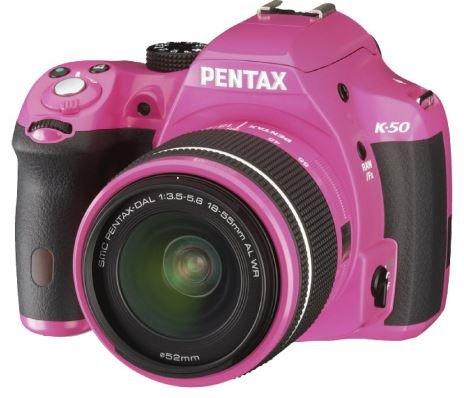 UPC 616932803383, Pentax K-50 16MP Digital SLR Camera Kit with DA L 18-55mm WR f3.5-5.6 Lens (Pink)