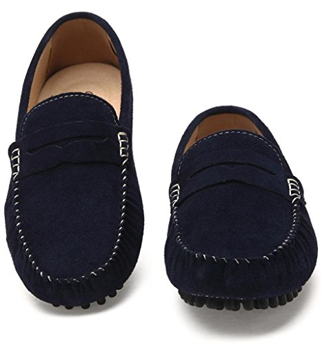 4647cc2fcac SUNROLAN Men s Suede Leather Dress Shoes Slip On Penny Loafers Driving  Moccasin Shoes - Buy Online in UAE.