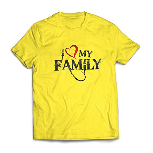 T Shirts for Men Unique Designer Shirts Show Your Love - Awesome Family Matching Outfits (XX-Large Yellow Multi Color) -
