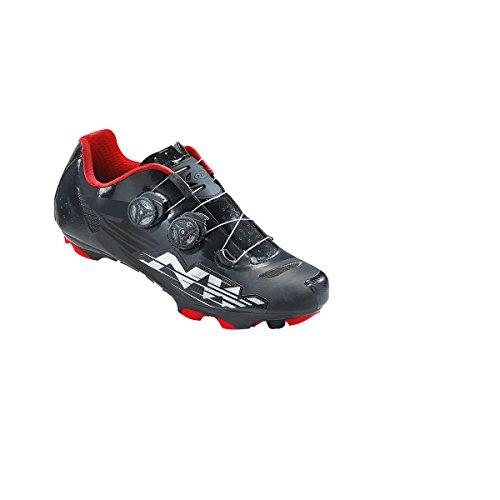 Northwave Blaze Plus MTB Fahrrad Schuhe schwarz/weiß/rot 2017: Größe: 43