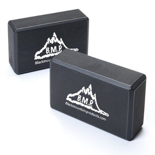 Black Mountain Products Yoga Blocks, 3x6x9-Inch, Black