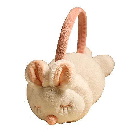 Winter Cute Panda Earmuff Ear Muff Warmer-White - 4