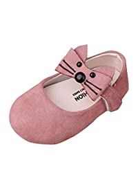 Dsood Baby Girls Dress Shoes Infant Toddler Prewalker PU Anti-Slip Soft Sole Mary Jane Party Princess Crib Shoes
