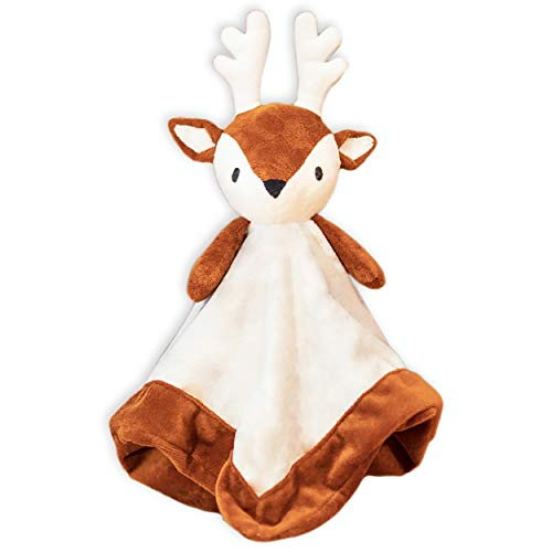 Baby Deer Security Blanket - Infant Antler Blanket - Baby Plush Swaddle Deer Blanket - Newborn Deer Gift for Nursery - Giggles Formula