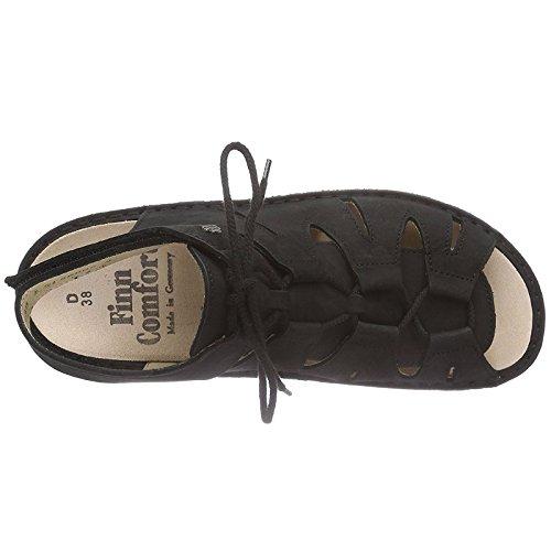 Finn Comfort Womens Malaga Black Leather Sandals 40 EU by Finn Comfort (Image #1)