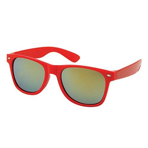 gold rouge blanc arc Nerdbrille miroir soleil Des argent 400 Wayfarer or Chic Net de UV lunettes qZSYSw