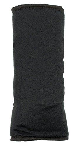 Custom Accessories 33126D Black Super Plush Fleece Interior Seat Belt Pad -