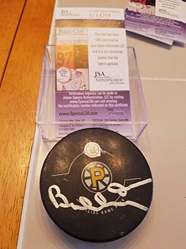 - Bobby Orr Autographed Signed Providence Bruins Official Game Puck JSA Coa