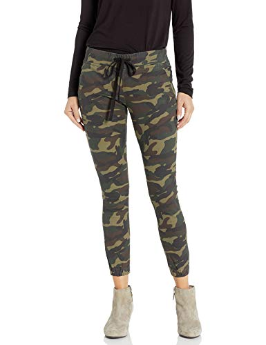cover girl Women's Tall Plus Size Army Style Camo Print Skinny Button or Drawstring Jogger, Camo Cargo, PLUS 14W