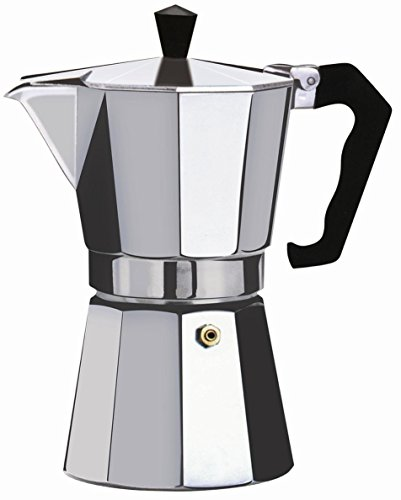 Wee's Beyond 7526-09 Brew-Fresh Aluminum Espresso Maker, 9 Cup, Silver by Wee's Beyond