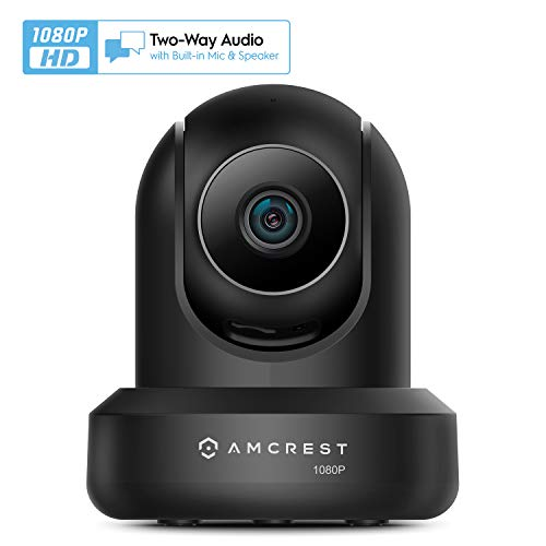 Amcrest 1080p WiFi Camera Indoor, 2MP Pan/Tilt Home Security Camera, Auto-Tracking, Motion & Audio Detection, Privacy Mode, Enhanced Browser Compatibility, H.265, Two-Way Talk IP2M-841B-V3 (Black)