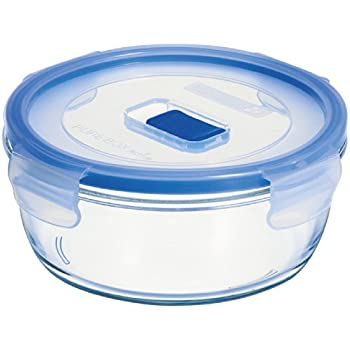 Arc International Luminarc 3.8 Cup Round Pure Box Container With Lid, 6.4  By 6.4 By 2.6 Inch