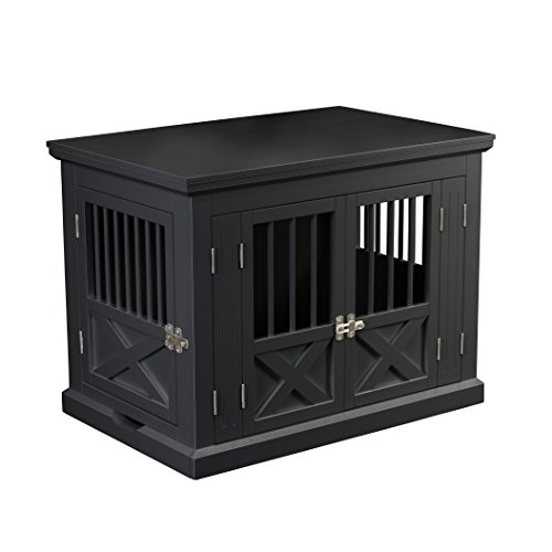 zoovilla Merry Products Triple Door Medium Dog Crate, Dog Kennel, Dog Cage (Crate Table)