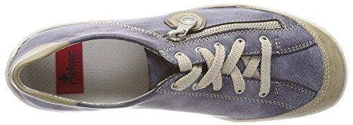 Rieker Jeans Azul Mujer para Marble Zapatillas Altsilber M3724 ZrZp84