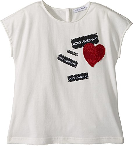 Dolce & Gabbana Kids Baby Girl's T-Shirt (Toddler/Little Kids) White 6 by Dolce & Gabbana