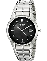 Citizen Men's BM6670-56E Eco-Drive Stainless Steel Black Dial Watch