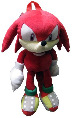 Sonic the Hedgehog Doll Plush Backpack - Knuckles Red (20...