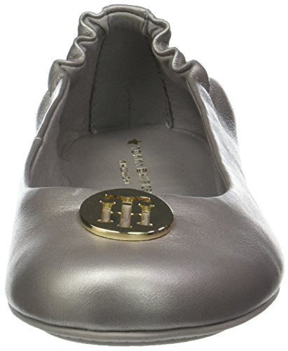 Hilfiger Leather Ballerines Tommy moonbeam Femme Or 009 Ballerina Pearlized xRdP1