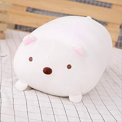Ruinika Korean Corner Bio-Doll Plush Toy Doll Sleeping Super Soft Warm Hand Pillow Covering Hand Birthday Gift Girl (Polar Bear, Large(90cm / 35.4in))