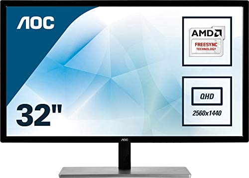 "AOC Q3279VWFD8 32"" LED Monitor, Free-Sync, (2560 x 1440), MVA Panel, 60Hz, 5ms, VGA, DVI, DP, HDMI by AOC"