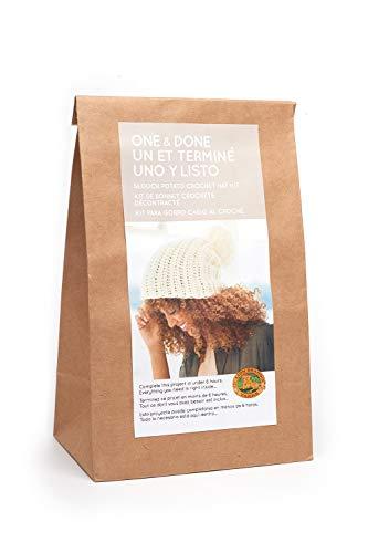 - Lion Brand Yarn One & Done Kits 606-100 Slouch Potato Crochet Hat