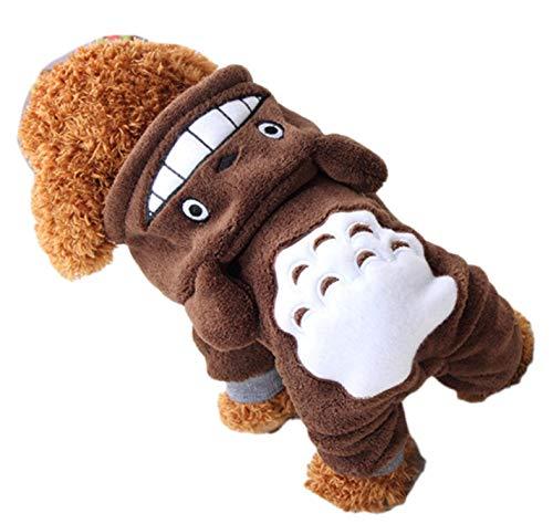 Pet Cat Dog Clothes Cute Cartoon Clothes Warm Pet Puppy Jumpsuit -