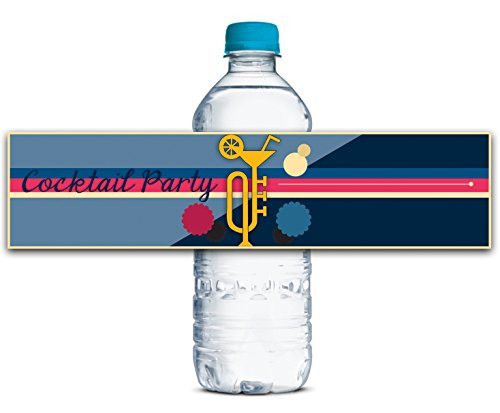 Personalized Water Bottle Labels Adhesive Waterproof Custom Cocktail Stickers 8