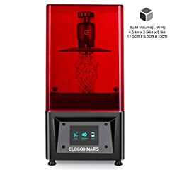 Introducing ELEGOO MARS LCD 3D Printer ELEGOO has been manufacturing 3D printer components and parts since 2014 and with years of experience in 3D printing, we finally developed our own 3D printer using UV photocuring technology. We'd like to...