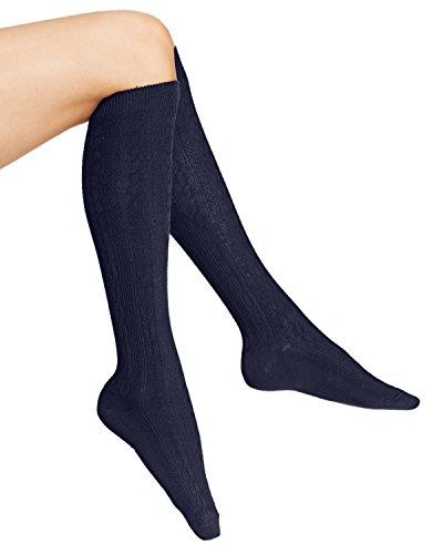 - Hue Cable Knee Socks (Navy)