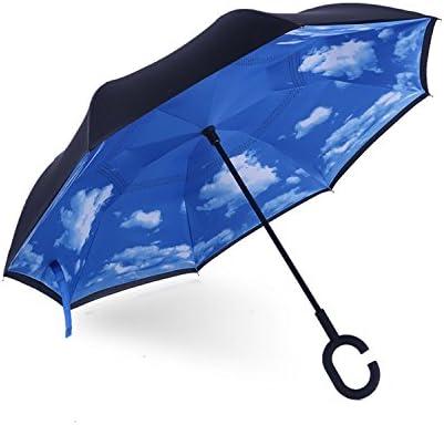 iTrunk Doble Capa de Paraguas Plegable Inversa con Manos en Forma ...
