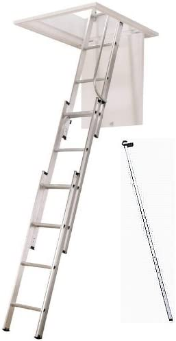 Aluminio Escalera para Desván Deslizante ático Extensión Escalera con pasamanos Free, HG1037: Amazon.es: Bricolaje y herramientas