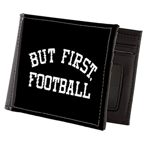 CafePress - But First Football - Mens Wallet, Bi-fold Wallet, Billfold Money Holder