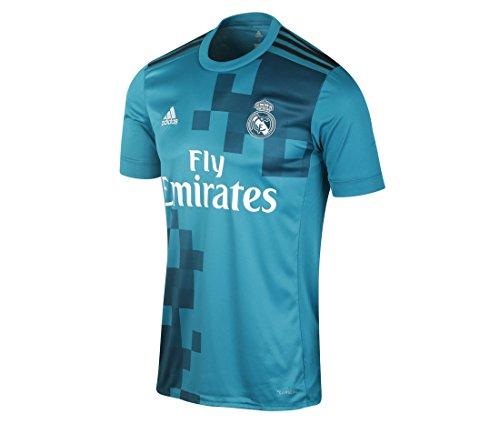 Adidas Mens Real Madrid 17 18 3Rd Replica Jersey Blue Grey M b7c3c1626