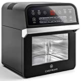 ChefWave 12.6 Quart Air Fryer, Rotisserie and Dehydrator – Large Capacity 1600W Oil Free Cooker with 16 Presets and Cooking Modes - 8 Accessories